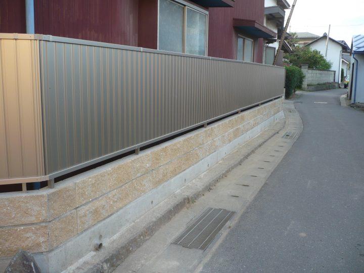 長野市エクステリア(塀の改修)工事