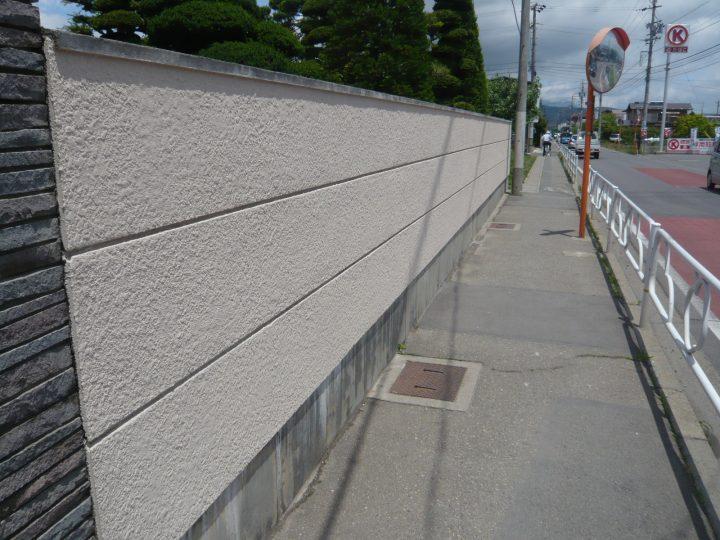 長野市 塀 塗装工事