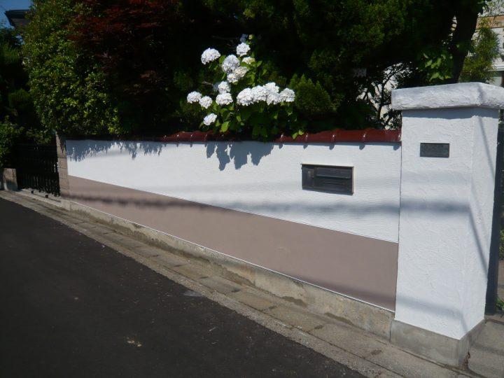 長野市 塀 左官工事