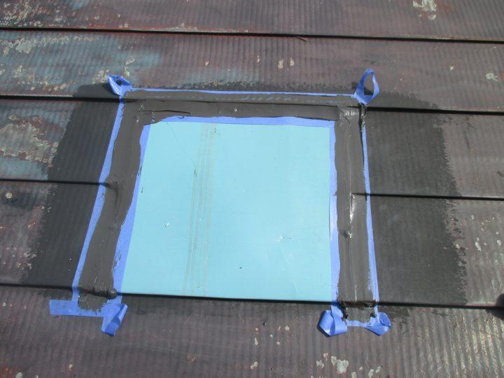 屋根煙突部補修
