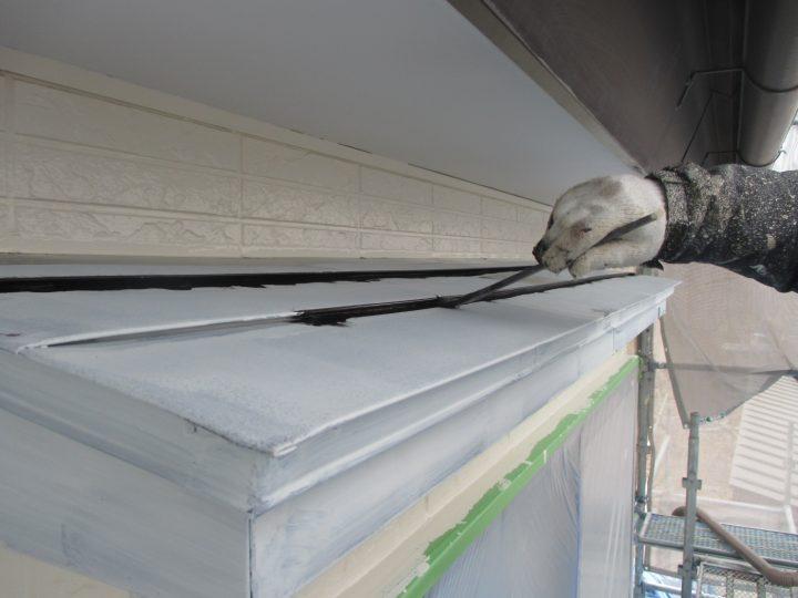 霧除け屋根塗装