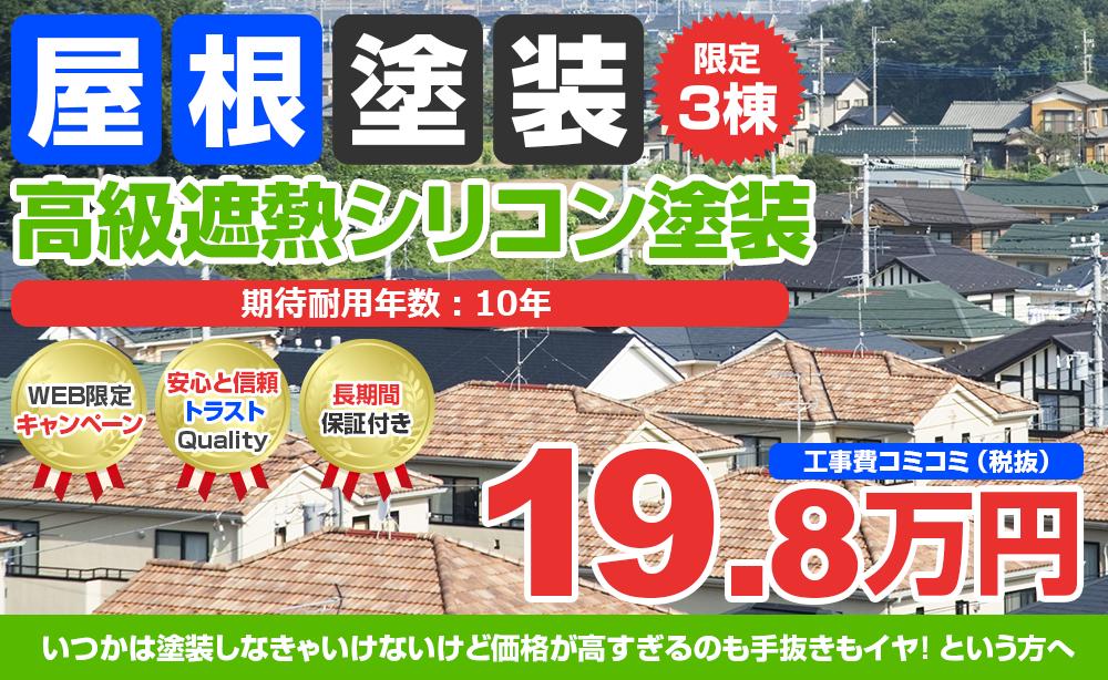 高級遮熱シリコン塗装 19.8万円
