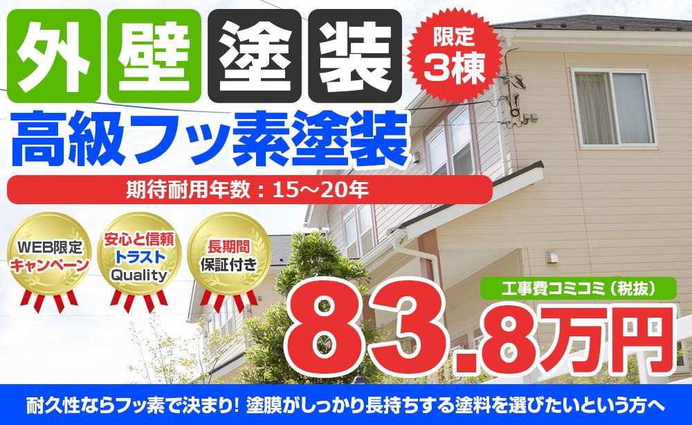 高級フッ素塗装 83.8万円