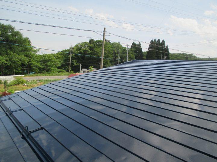 信濃町野尻屋根塗装工事
