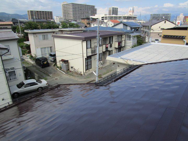 長野市中越屋根塗り替え工事
