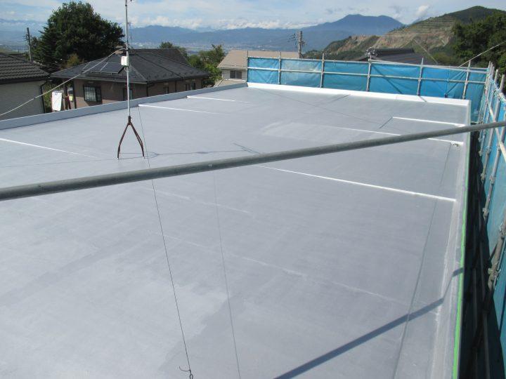 高山村屋根塗装工事