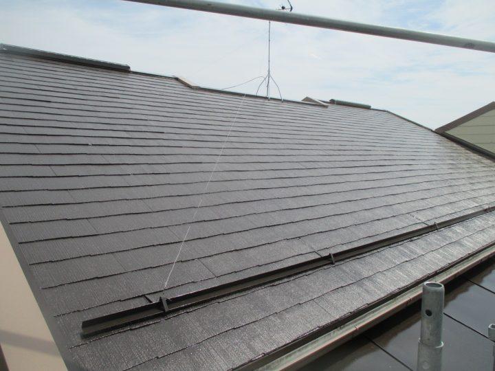 長野市北条アパート屋根塗装工事