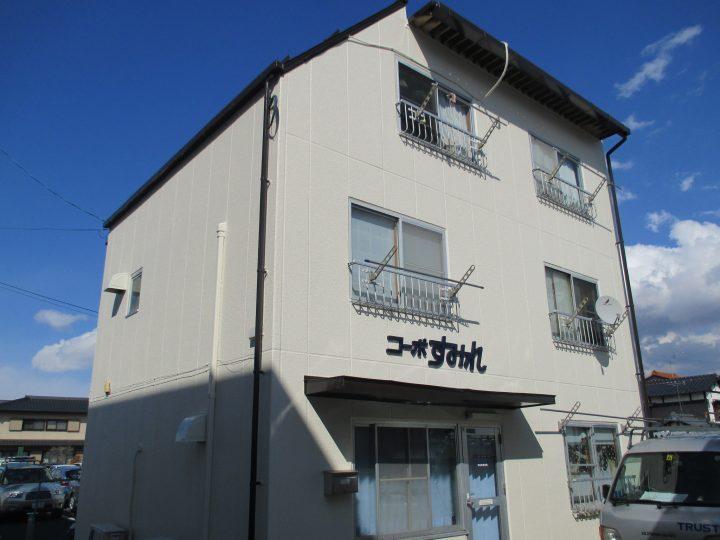 長野市若里アパート外装塗り替え工事