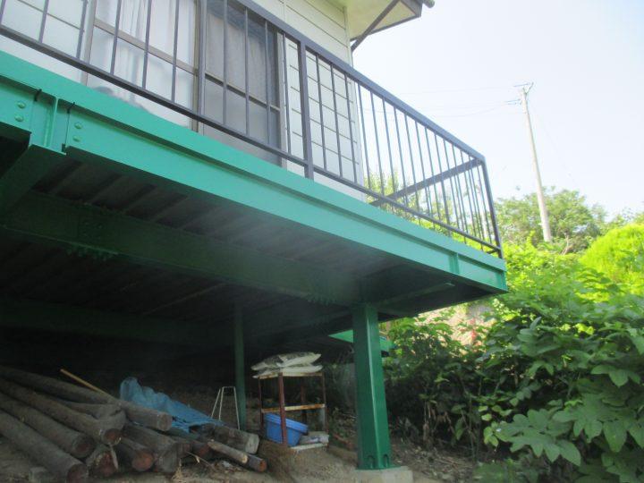 長野市集会所鉄骨塗装工事