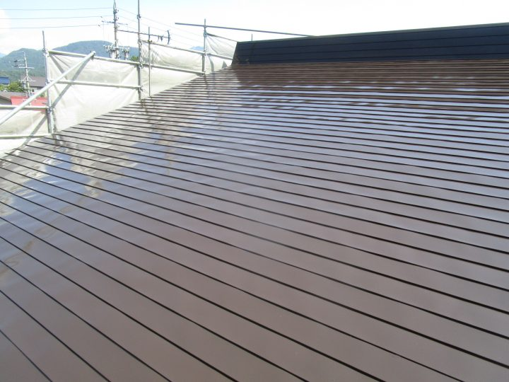 飯山市T様 屋根塗装工事