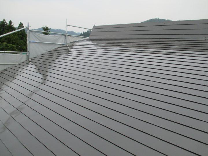 妙高市屋根塗装工事