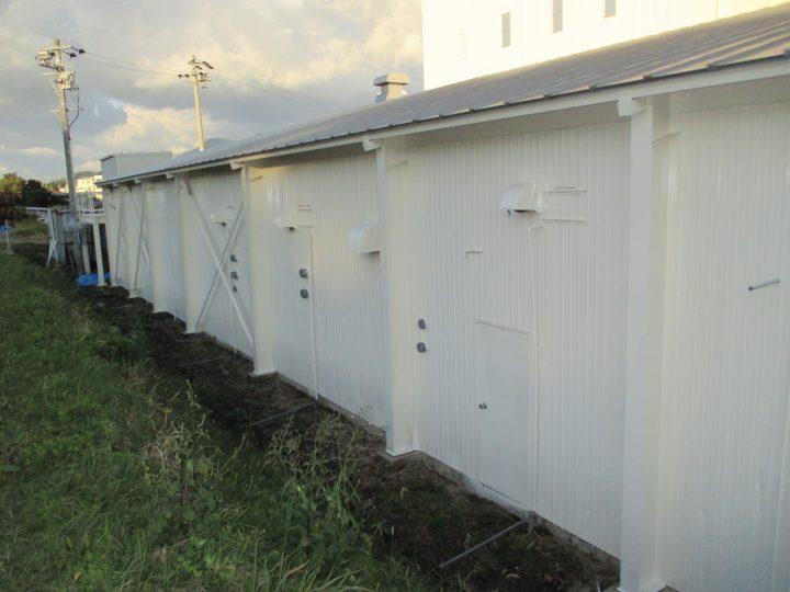 中野市きのこ工場外装塗装工事