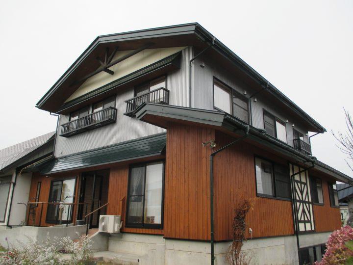 信濃町野尻外装塗装工事