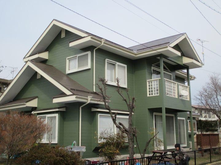 小諸市御影新田屋根、外壁塗装工事