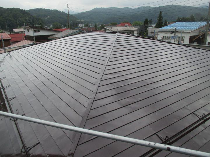信濃町野尻屋根塗替え工事