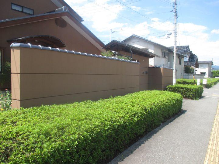長野市H様 塀塗装工事
