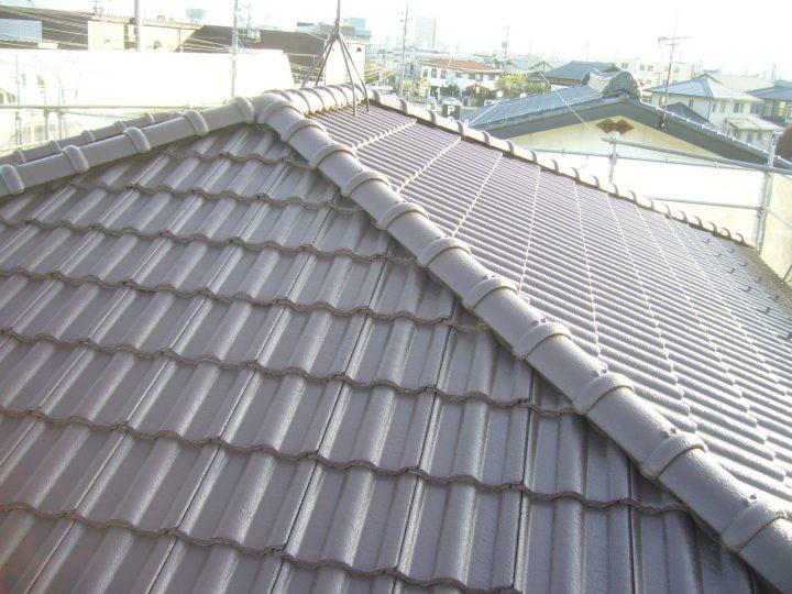長野市内乾式洋瓦塗装工事