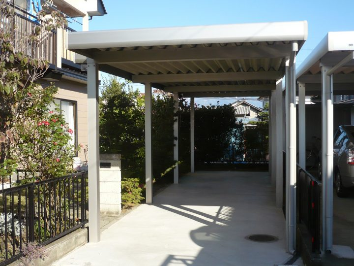 長野市外構(カーポート設置)工事