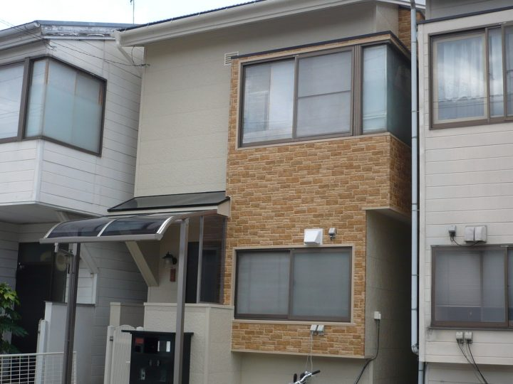 長野市外壁金属サイディングカバーリフォーム工事