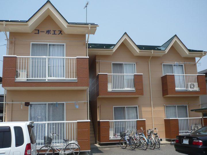 長野市アパート塗装工事