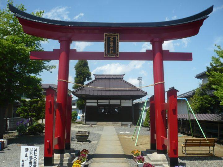 長野市神社鳥居塗装工事