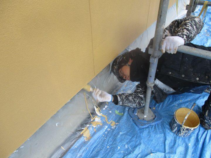 外壁端部塗装