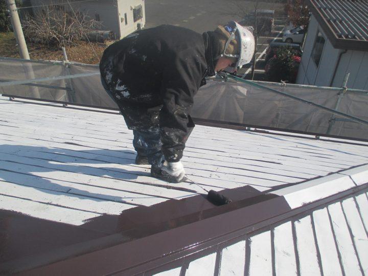 屋根塗装(1回目)