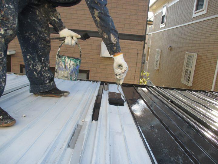 物置屋根塗装