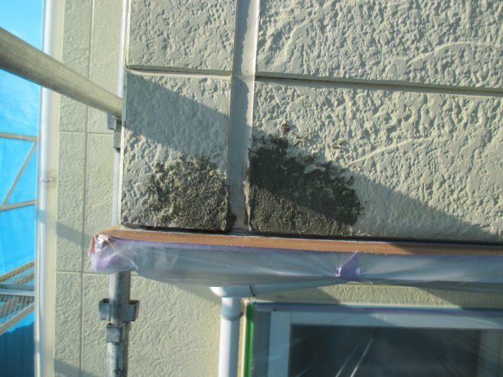 外壁パテ補修