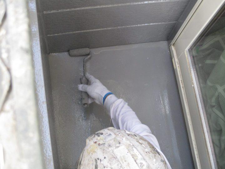 ベランダ床(FRP)塗装