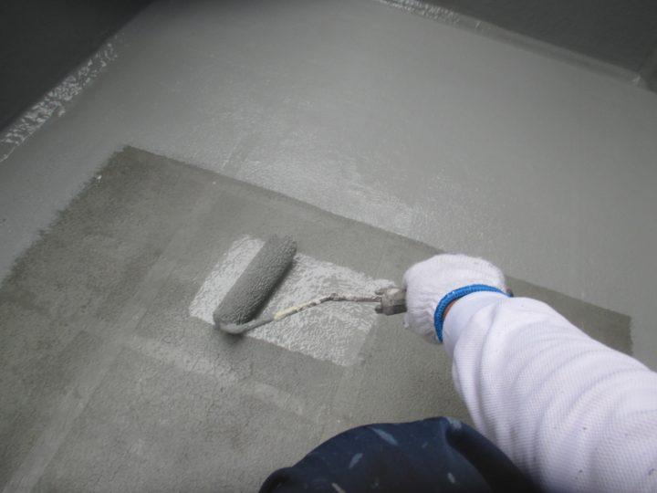 ベランダ床塗替え