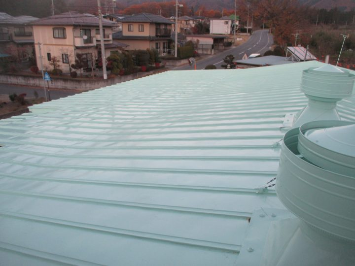 高山村Y様《工場》屋根塗装工事