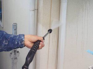 外壁面のケレン洗浄