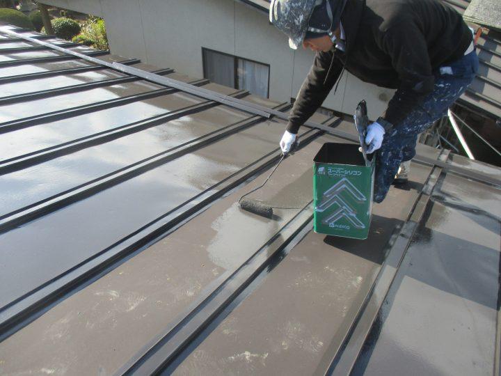 屋根上塗り(1回)