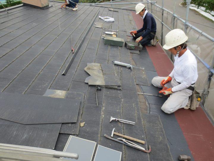 屋根葺き替え(一部)