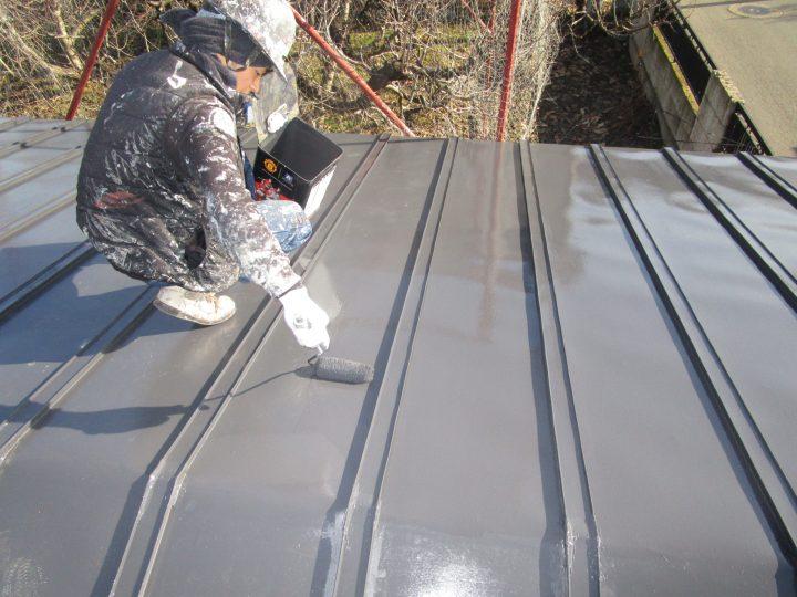 屋根上塗り(2回)