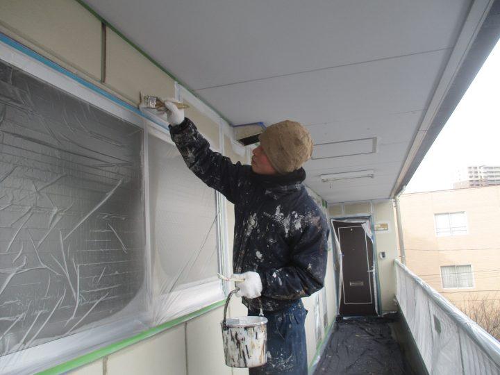 外壁下塗り(1回)
