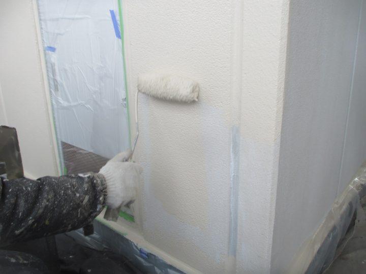 外壁上塗り(2回)