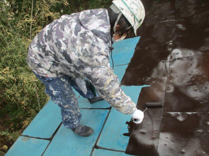 屋根下塗り(1回)