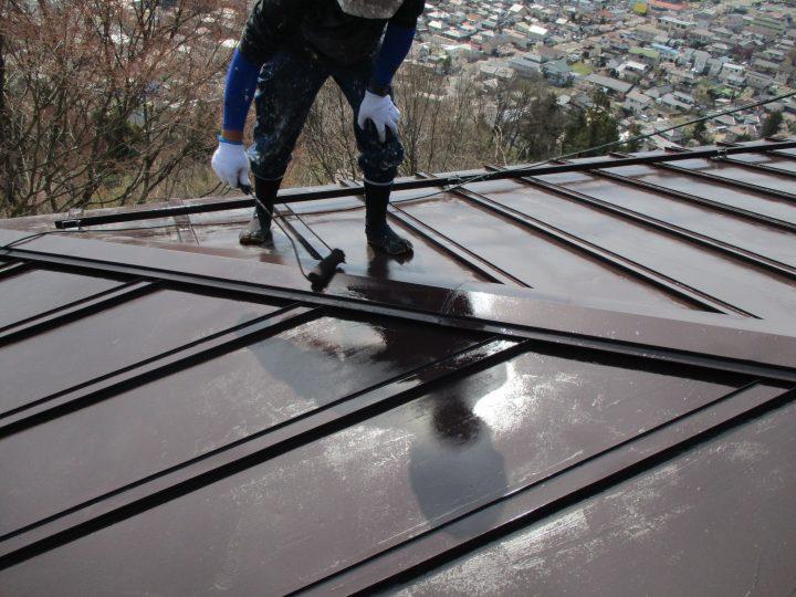 屋根塗装(上塗り2回)