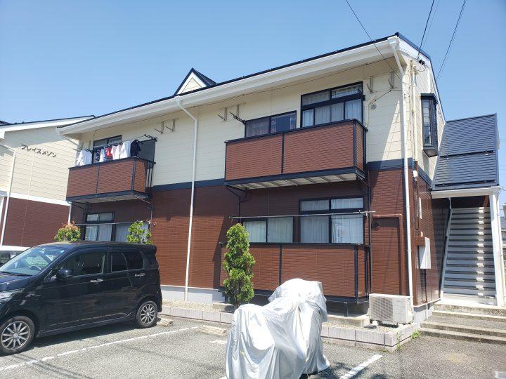 長野市N様 アパート外壁・屋根塗装工事