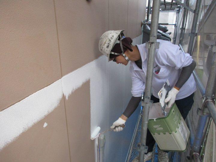 外壁下塗り(1回塗り)