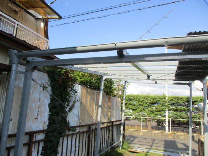 車庫屋根交換