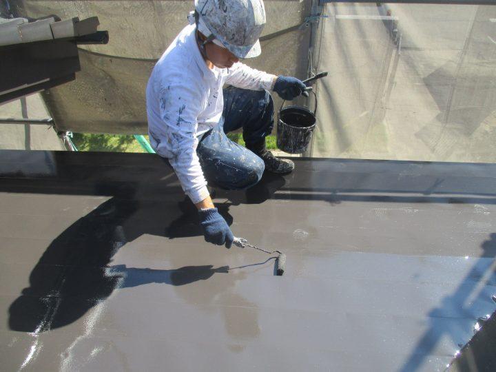 玄関屋根塗装