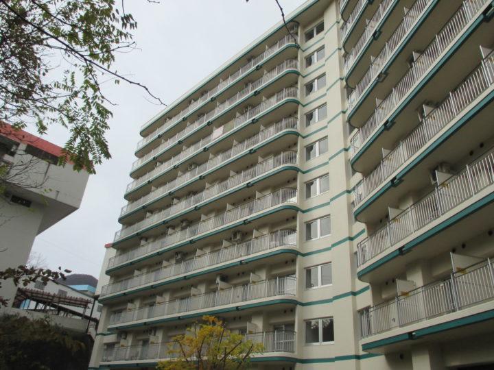 木島平 リゾートマンション大規模修繕工事(外壁塗装工事)