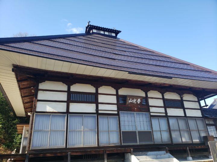 長野市【観照寺】 屋根塗装工事