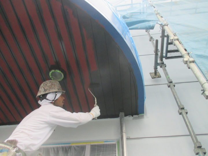 入口天井塗装
