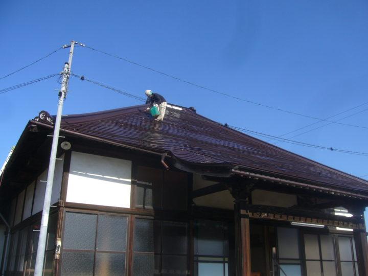 長野市【瑠璃光寺】屋根塗装・板金工事