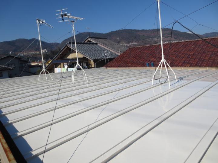 長野市アパート 屋根塗装工事