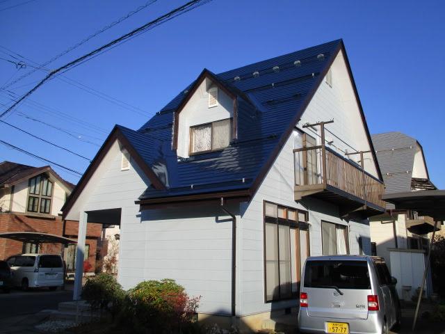 長野市T様 外壁・屋根塗装、雨樋・雪止め板金工事